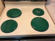 Calypso Basics Heavy Weight Electric Stove Burner Covers, 2, 10-Inch, 2, 8 Green