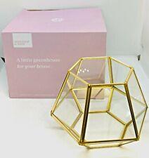 FabFitFun Summer & Rose Joni Mini Terrarium, Candle Holder or Jewelry Storage