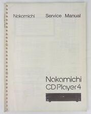 NAKAMICHI CD PLAYER 4 - SEVICE MANUAL - CON SCHEMA ELETTRICO - ORIGINALE
