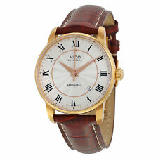 New Mido Baroncelli Rose Gold Tone Stainless Steel Mens Watch M86002218