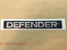 Land Rover Defender Front Badge Silver/Black Decal Restoration Sticker Non Oem