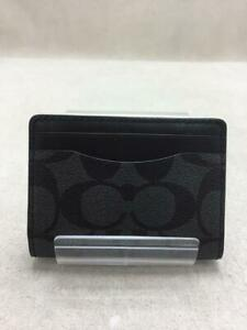 COACH  Leather 91660 L1992 Magnetic Leather Black Fashion Card case From Japan