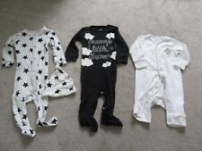 3 x Next sleep suits sleepsuits 6-9 months