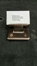 Shower Door Hinge ANTIQUE COPPER WITH ADJUSTABLE PLATE 30 DEGREES UP OR DOWN