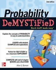 Demystified: Probability : Hard Stuff Made Easy by Allan Bluman (2012,...