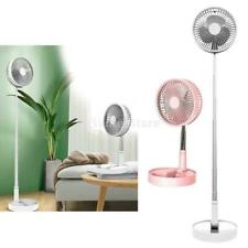 Portable Folding Pedestal Stand Fan USB Rechargeable Telescopic Table Floor Fan