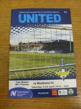 21/04/2018 Long Eaton United v Westfields  . Thank you for viewing this item ava