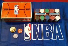 NBA POKER SET - Boxed, with 200 Chips, Rack , Table Table Felt, Cards & Tokens