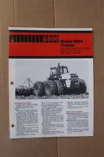 Case 4894 4WD tractor original sales brochure #A66984B-2