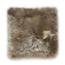 "Sheepskin Pillow Cover Taupe Lamb Pillowcases Real Fur Cushion Cover 18"" X 18"""