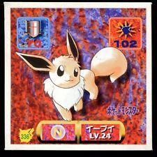 POKEMON STICKER Carte JAPANESE 50X50 1997 NORMAL N° 336 EEVEE EVOLI