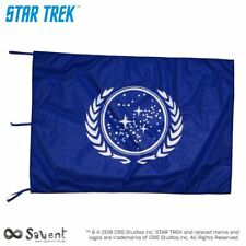 STAR TREK BANDIERA UFFICIALE UNITED FEDERATION OF PLANETS BLU cm. 100x150