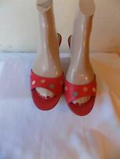 Mark Jacobs Red And Multicolor Fake Button Slides Sandals Shoes Shoe Size  7 M