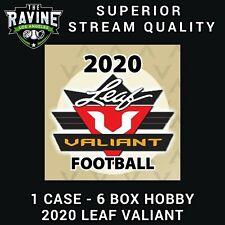 ROOKIE FREE AGENT SPOT 2020 LEAF VALIANT FOOTBALL 6 BOX CASE BREAK #1
