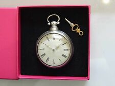 Beautiful Antique Solid Silver VERGE Fusee PAIR CASED Pocket Watch Dated 1841.