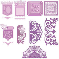 Frameworks Panels Lace Cutting Dies Stencil Scrapbooking Album Embossing Crafts