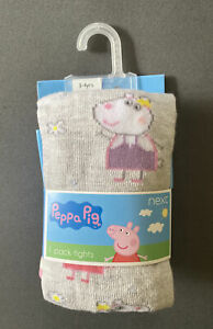 Toddler Girl Size 3-4 Years Next UK Peppa Pig Character Knit Winter Tights