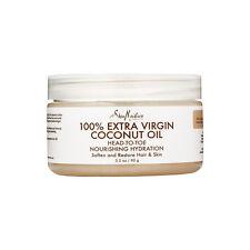 Shea Moisture 100% Extra Virgin Coconut Oil Nourishing Hydration Hair Skin 3.2oz