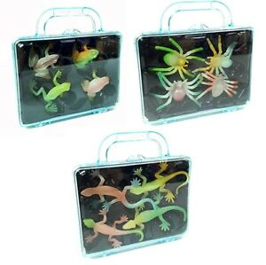 Small Glow In The Dark Toy Figures Frogs Geckos Spiders Party Bag Fillers