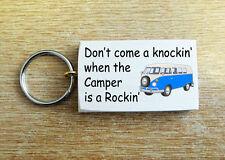 """HAND MADE IN LEGNO PORTACHIAVI SEGNO """"Camper Van è un Rockin' """"dono regalo chiavi VW"""