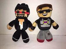 Minecraft Lot of 2 Tube Heroes Plush 7.5''
