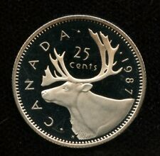 1987 Canada 25 cents Proof Quarter from Mint Set UHCameo