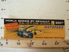 STICKER,DECAL MOTOPARK WORLD SERIES BY RENAULT OSCHERSLEBEN 2005 RACING LARGE