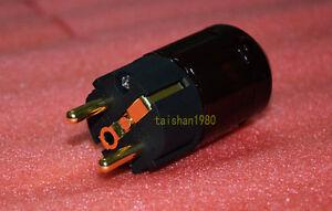 NEW Brand P-079e Gold Plated Schuko EU Power Plug For Audio Connector Wholesale