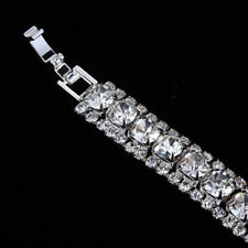 UK Ladies Elegant Silver plated Rhinestone Bracelet Bangle Jewellery Gift 1172