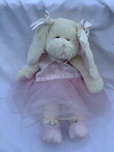 Bearington Collection Ballerina Bunny Rabbit Plush Tutu White Pink Back Pack
