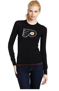 NHL Womens Philadelphia Flyers Long Sleeve Thermal Crystallized With Swarovski S