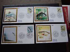 FRANCE - 4 enveloppes 1er jour 6/10/1990 (poissons) (B7) french