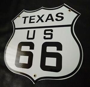 Texas Route 66 Porcelain Sign
