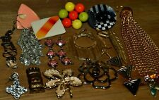 Vintage Pendants Findings Charms Rhinestone Upcycle Jewelry Making Crafts Lot