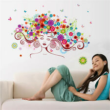 Flowers Elves Girl Room Home Decor Removable Wall Stickers Decals Decorations