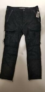 Guess Los Angeles Utility Fit Men's Corduroy Pants Color: Black Size: 36x30