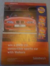 RED BMW Z3 SAINSBURY'S WALKERS CRISPS COMPETITION ENTRY LEAFLET FROM 2000
