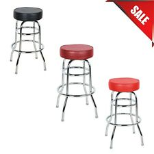 """""""Pick Your Color"""" Seating Double Ring Barstool with 3 1/2"""" Thick Seat Bar Pub"""