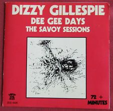 DIZZY GILLESPIE CD  DEE GEE DAYS  THE SAVOY SESSIONS