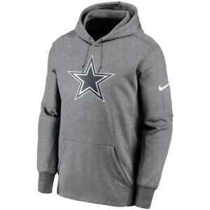 New 2021 NFL Dallas Cowboys Nike Fan Gear Primary Logo Therma Pullover Hoodie