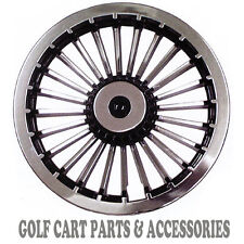 "CHROME 8"" Golf Cart Hub Caps  - EZGO, CLUB CAR, YAMAHA Set of 4 Wheel Covers NEW"