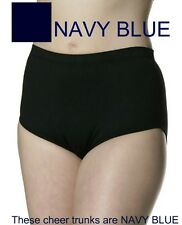 Danskin 2910 Women's Size XL Navy Blue Heavy Weight Cheer Dance Trunks Briefs