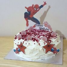 SPIDERMAN edible 3D scene cake decoration set stand up toppers