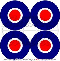 """RAF Royal Air Force Type C Roundel 50mm/2"""" Stickers x4"""