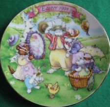 Avon Fine Collectibles*All Dressed Up 1994 Easter Plate*With Stand*Nib*