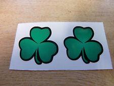 2x Verde Trébol Irlandés Sticker Decal - 50 Mm