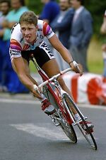 SEAN YATES TEAM FAGOR TOUR DE FRANCE 1988 TIME TRIAL POSTER SKY