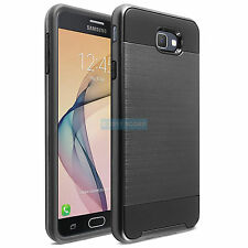 SAMSUNG GALAXY EXPRESS AMP PRIME 2 FULL BLACK BRUSHED CASE HYBRID SLIM COVER