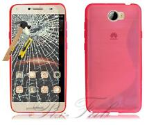 For Huawei Y6 II Compact Y5 2 & Y6 (II) 5A New Gel  Phone Case + Tempered Glass