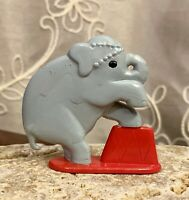 "Vintage Rubber Circus Elephant Figure Toy Cake Decor 2.25""x2.25"" 1950's"